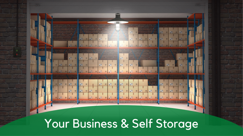 Your business and self storage, self storage can help with your small business inventory needs.