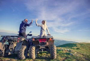 Couple goes on ATV ride before storing them for the winter