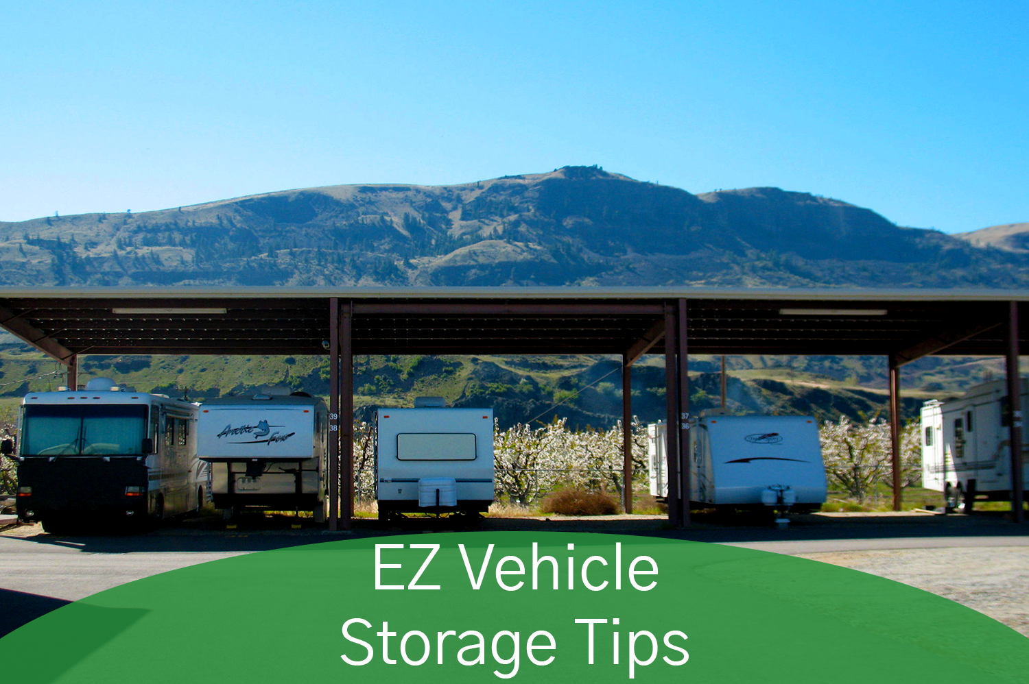 Ez Access Storage outdoor covered vehicle storage.